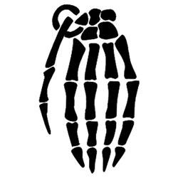 skeleton hand stencil - Google Search