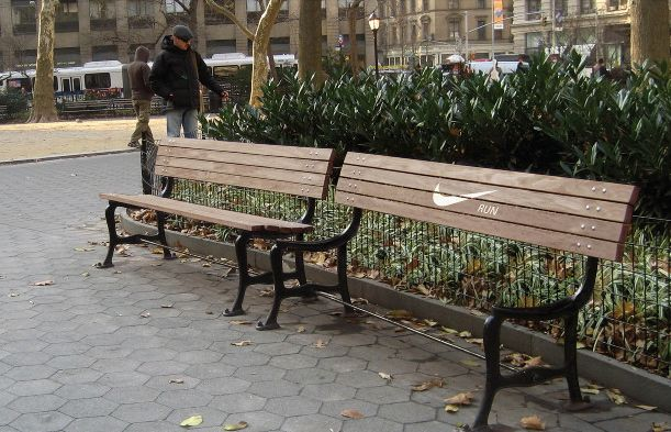 great motivation from nike - seatless bench.  just run!