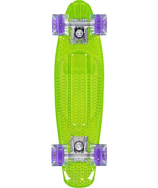 """Sunset Blacklight Alien 22""""  Cruiser Complete Skateboard"""