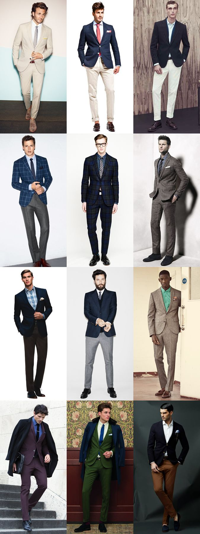 Great examples of men in perfect-fitting suits! I mean, who doesn't love a man in a great suit! I do! :D