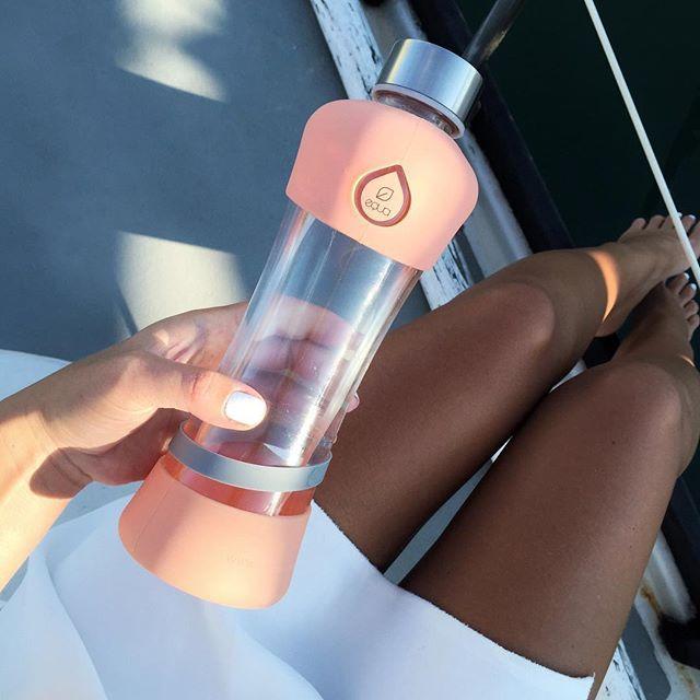 EQUA on board ! #myequa #active #activecollection #reusablebottle #glassbottle #peach