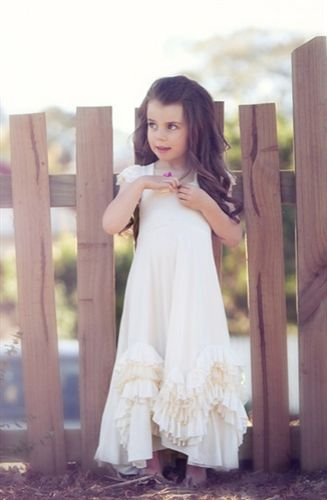 This is precious for flower girls!  Ruffles on the bottom too!  Look at back!