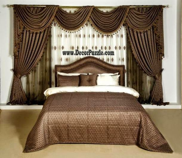Brown Curtains Designs Luxury Classic Curtains And Drapes 2015 For Bedroom