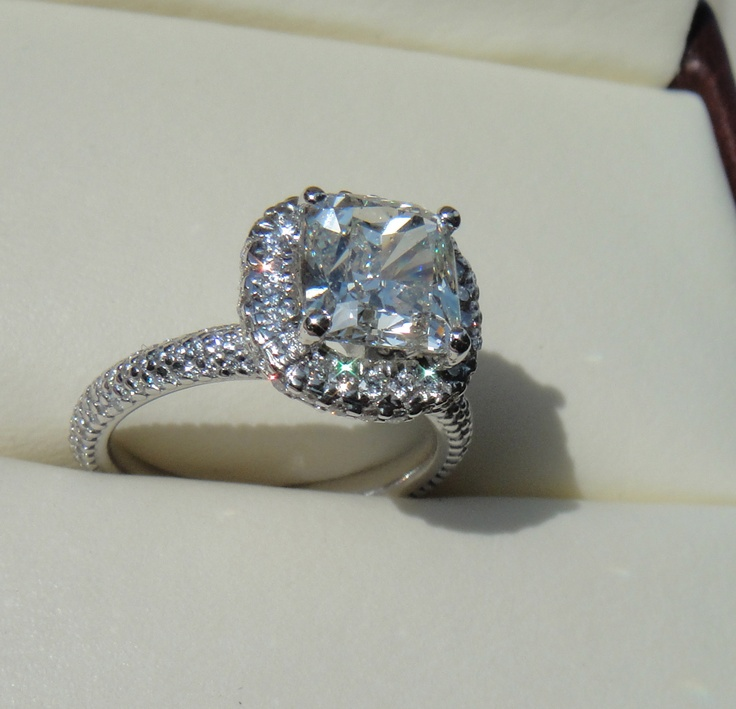 44 best ideas about Cushion Cut Engagement Rings on Pinterest