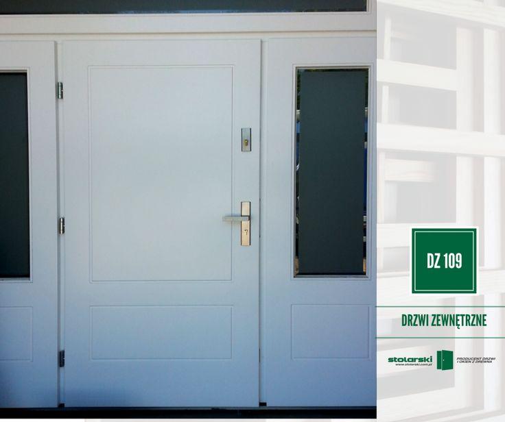 Drzwi zewnętrzne MODEL DZ 109 #drzwidrewniane #drzwizewnetrzne #door #wood #stolarnia #drzwimarzeń #realizacje www.stolarski.com.pl