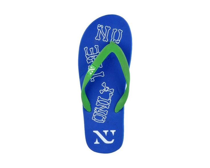 Numero Uno Men's Green and Navy Slipper - NU-213GRN_NVY only @ Rs. 279