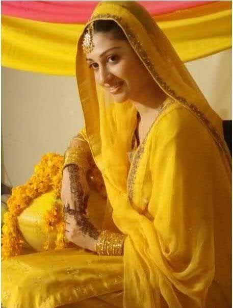 Mehndi Bride Quotes : Mehndi mayon bridal dresses for girls yellow