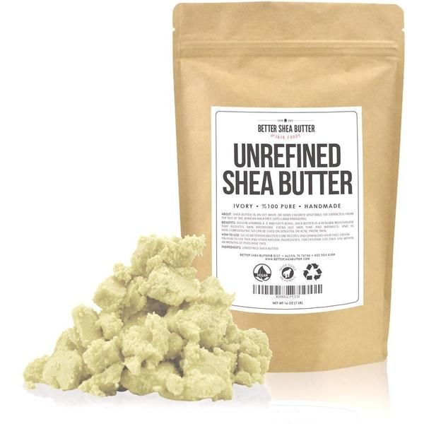 Unrefined, Pure Shea Butter means you get 100% of its renown moisturizing and skin nourishing benefits