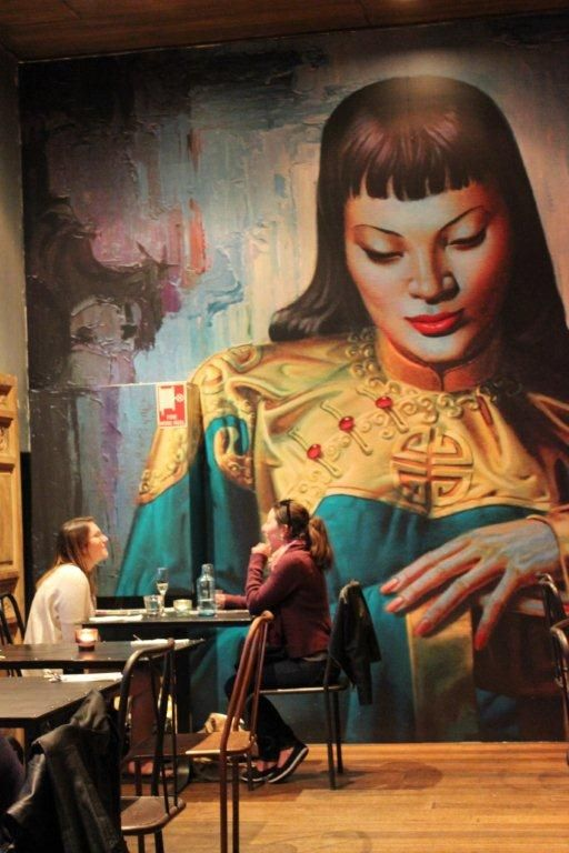 The Mural in Ronin Chambers at the Asian Beer Cafe.
