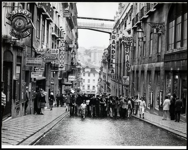 the peaceful revolution of 1974 Chiado, Lisboa, Portugal