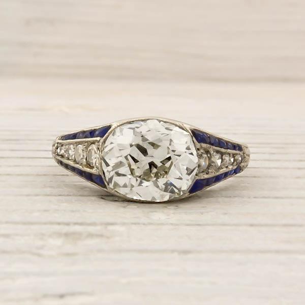 Absolutely love vintage rings.: Diamond Engagement Rings, Vintage Rings, Diamonds Rings, Cushion Cut Diamonds, Mine Cushions, Antiques Vintage, 1 79 Carat, Diamonds Engagement Rings, Cushions Cut Diamonds