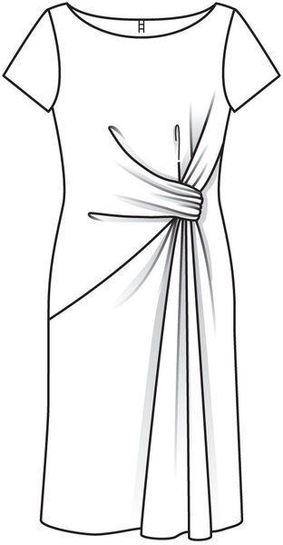 Платье - выкройка № 112 из журнала 12/2012 Burda – выкройки платьев на Burdastyle.ru