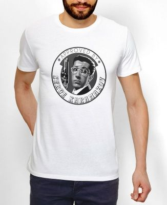 Teeshirts Homme Approved by Serge Karamazov Gris by La Tamponneuse