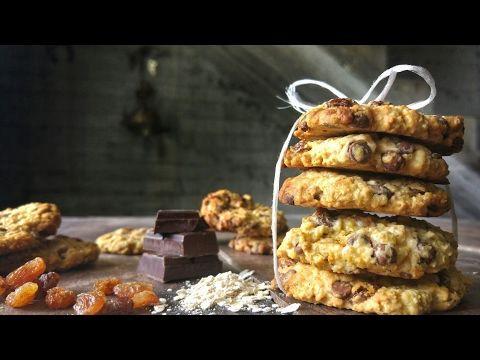 Εύκολα cookies με σοκολάτα και βρώμη - Easy Chocolate Cookies with oats - YouTube