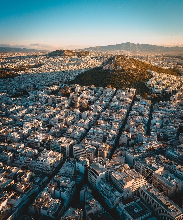 The urban density of #Athens, #Greece from above