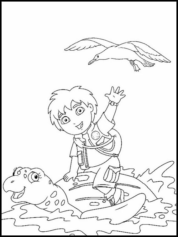Printable Coloring Pages For Kids Go Diego Go 14 Cartoon
