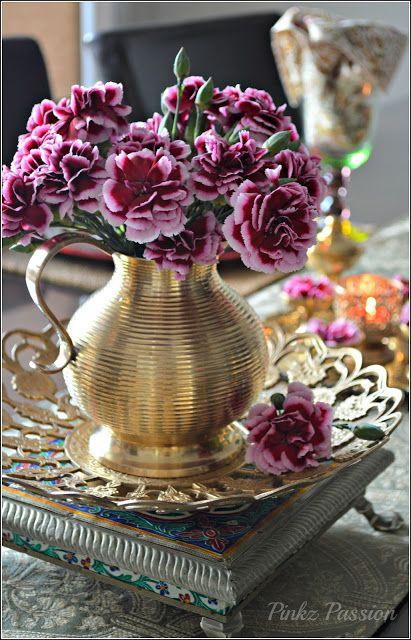 Brass Collectibles, Brass tablescape, Brass Vignettes, Diwali Décor, Diwali Tablescape, Indian Decor, Indian Inspired Decor, tablescape