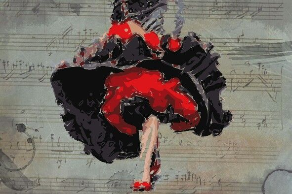 """Flamenco"" Illustration"