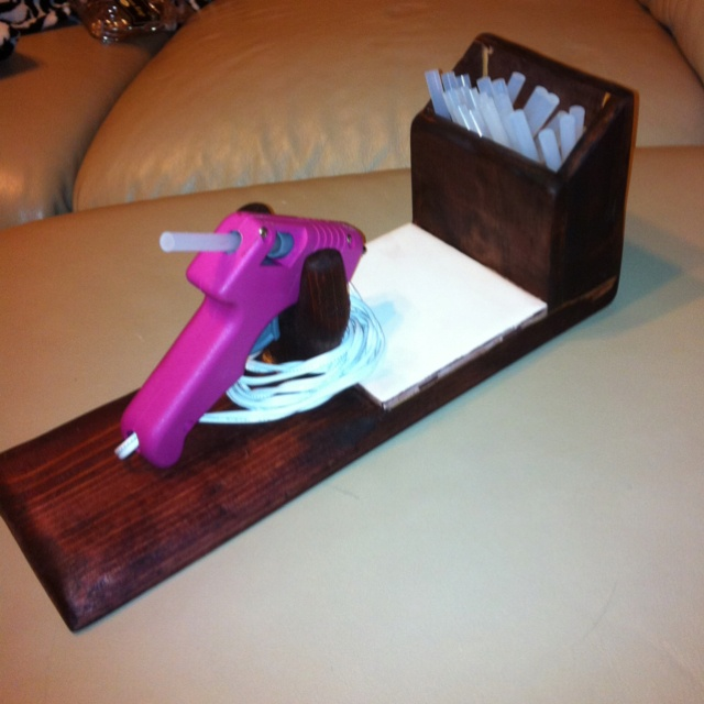 Make Hot Glue Gun Stand