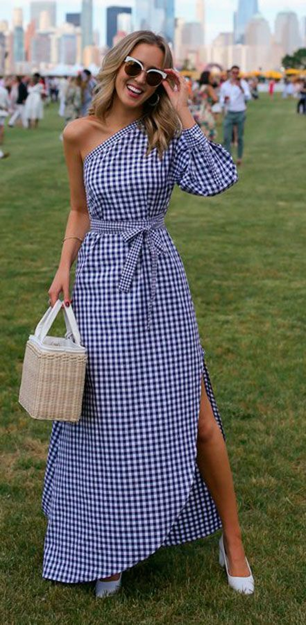 #gingham style #maxi dress #outfit