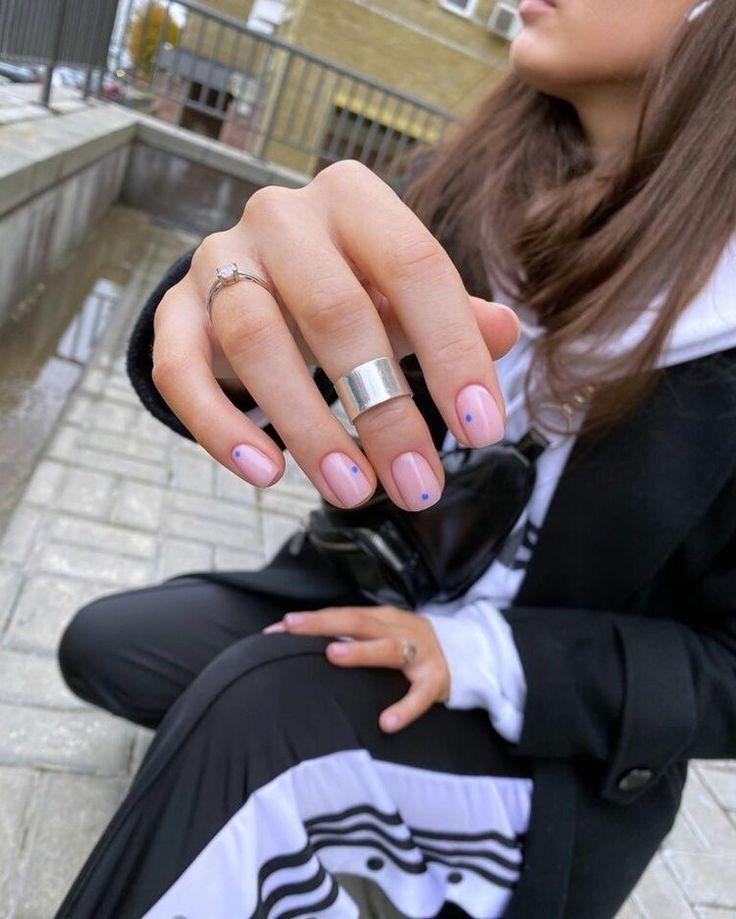 Minimal Dots Nail Art Idea #nailpolish #nails