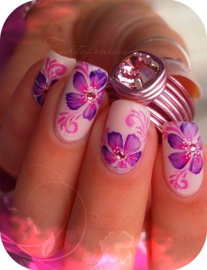 One Stroke Nail Art...