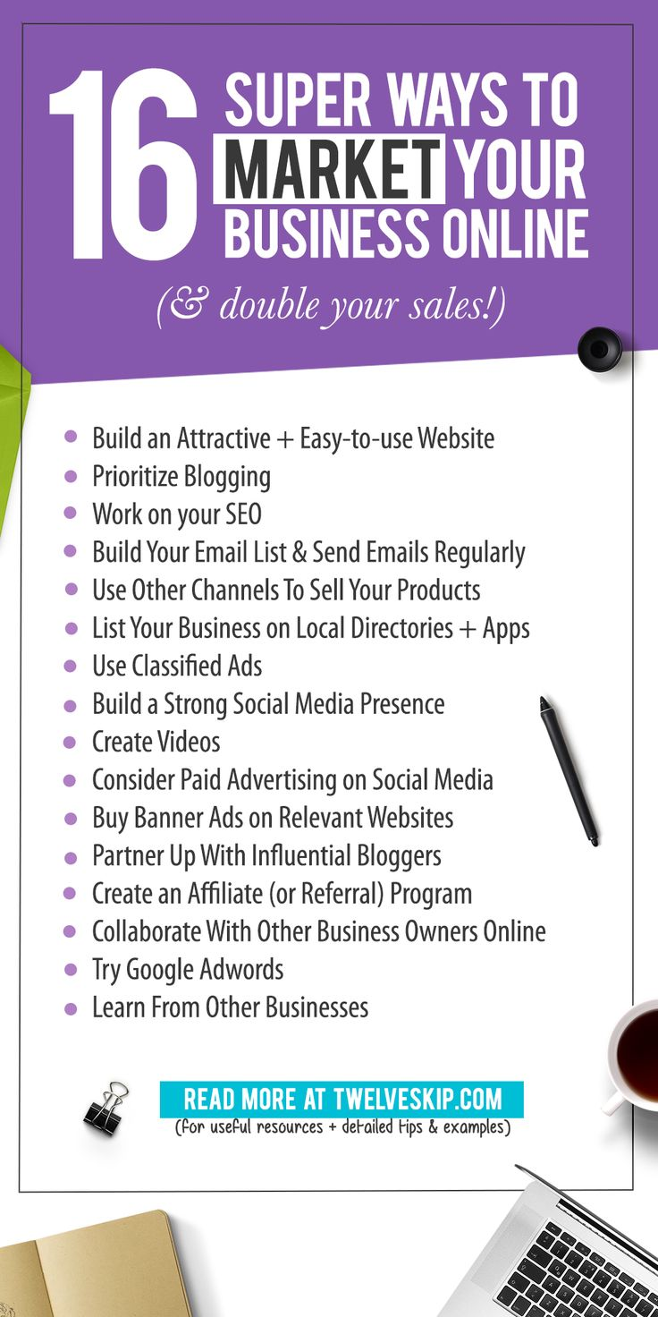 How To Market Your Business Online. Here are some super effective ways to market your business ONLINE (and of course, double your sales!)