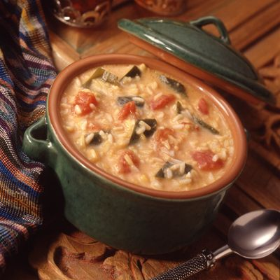 Poblano peppers and plenty of Cheddar cheese make this rice soup extra filling andextra tasty.Make soup today — it′s always a hit!