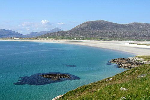 Luskentyre beach,  Harris Island, the Outer Hebrides, Scotland