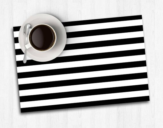 Black And White Placemat Paper Placemat Printable Placemat Etsy Black Centerpieces Printable Placemat Instant Download Etsy