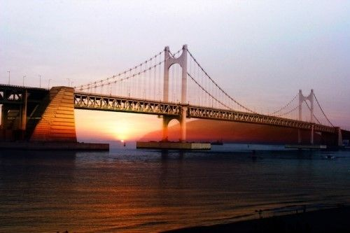 Diamond Bridge(Gwangan Daegyo) of Busan in Korea