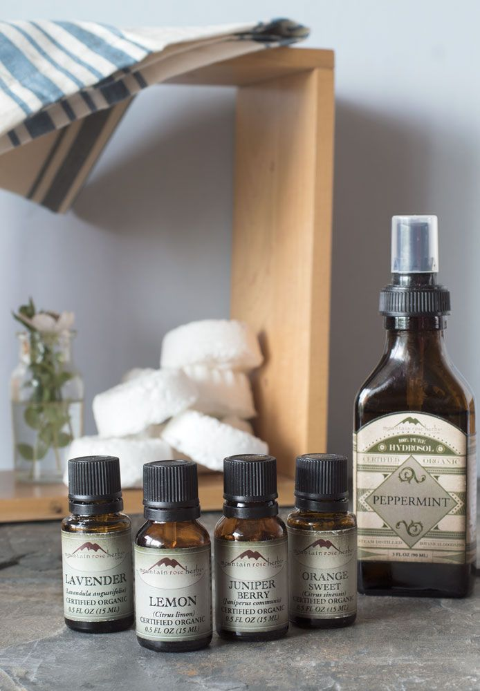 Natural Cleaning! DIY Toilet Bombs recipe from Mountain Rose Herbs.