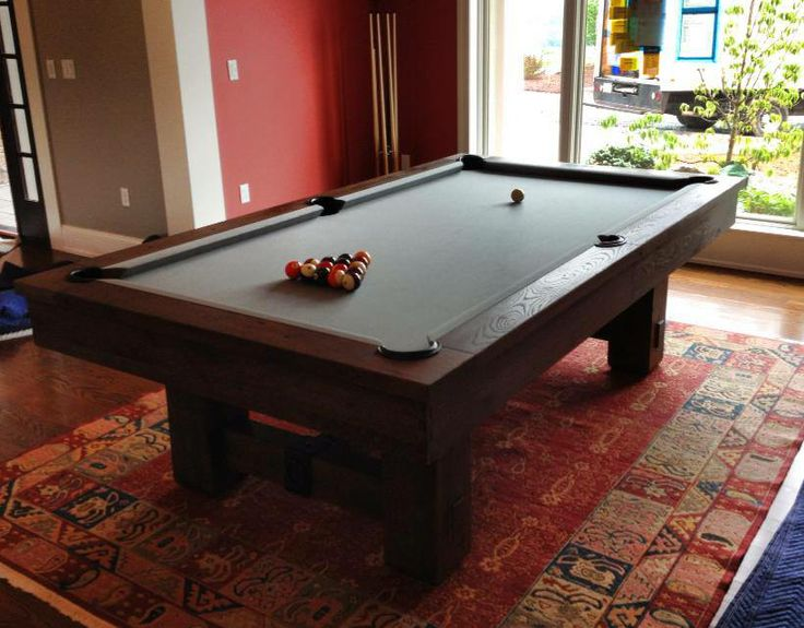 8 Brunswick Merrimack Pool Table In A Nutmeg Finish With