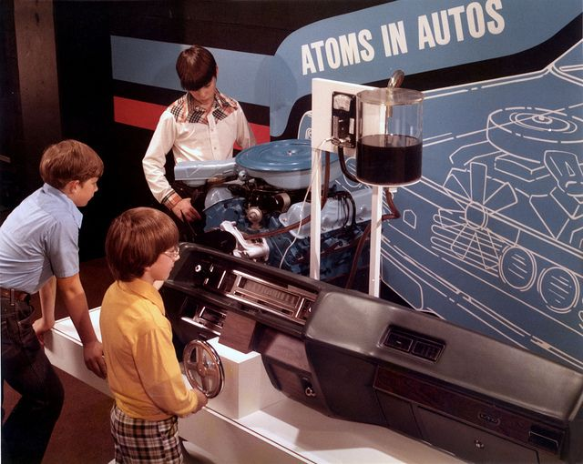 """Exhibit at the American Museum of Science and """"Atoms in Autos"""" Oak Ridge, via Flickr."""
