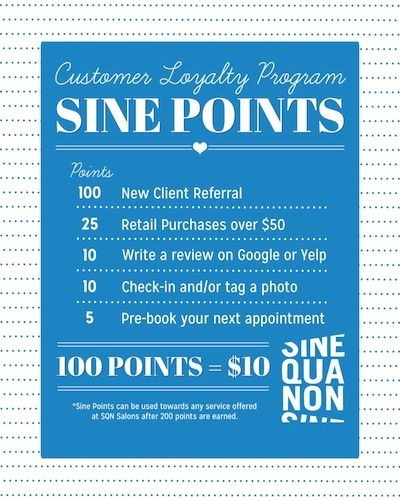 We love our loyal clients at Sine Qua Non. <3 Stop by any of the salon locations and as about the Sine Points Program! #iamsine