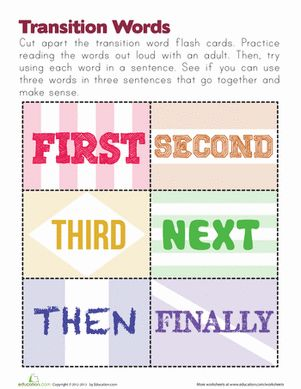 Printables Transition Words Worksheet 1000 ideas about transition words worksheet on pinterest lesson planet and phrases