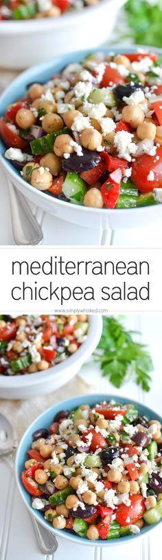 Mediterranean Chickpea Salad | http://simplywhisked.com