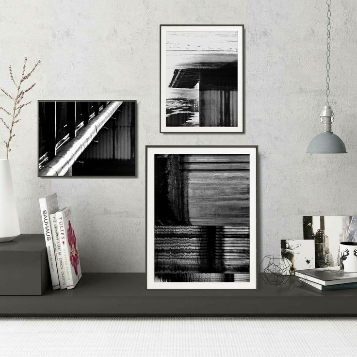 How to decorate your industrial interior? Create black and white gallery wall! #art #photography #blackandwhite #printables #gallerywall #modern #wallart #minimal #industrial #kacixart http://etsy.me/2BfmFTD