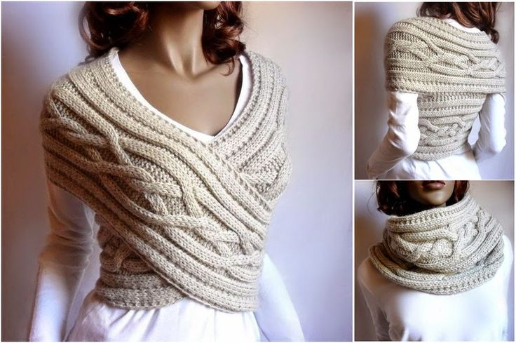 DIY Chic Cable Knit Cowl and Sweater in One | Creative Ideas