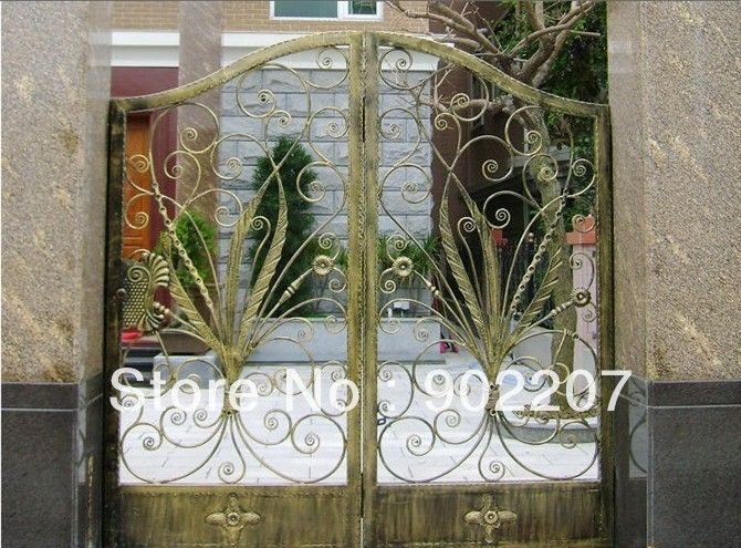 door wrought iron gates,security iron gate,gates wrought door entrance-006 iron door