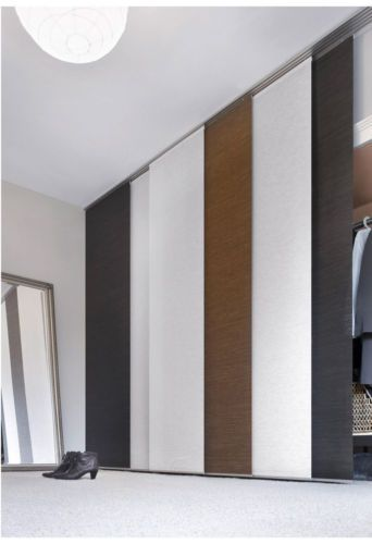 Gardinia-Flaechenvorhang-Schiebevorhang-dark-braun-Naturoptik-60-x-245-cm