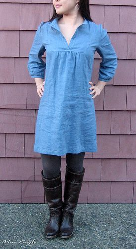 Love the casual chic!  Tova dress. Pattern from Wiksten.  http://www.shopwiksten.com/product/tova-shirt-sewing-pattern