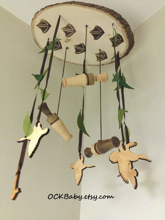 Hey, I found this really awesome Etsy listing at https://www.etsy.com/listing/220873516/duck-hunt-hardwood-baby-mobile-nursery