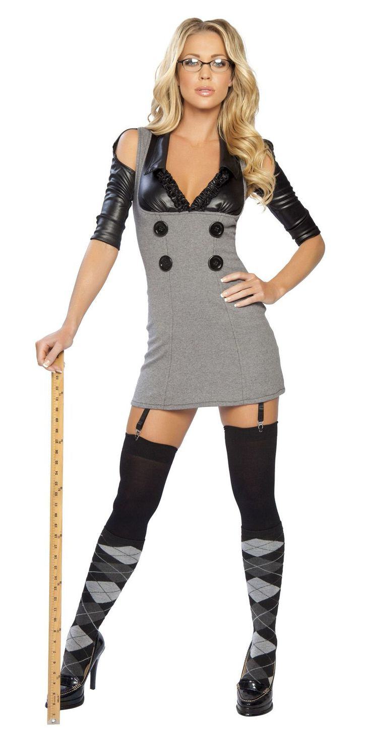 Miss Naughty Principal Includes Dress With Buttons And -3140