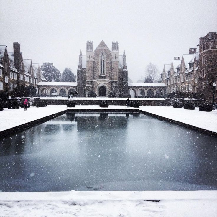 Berry College in the snow.