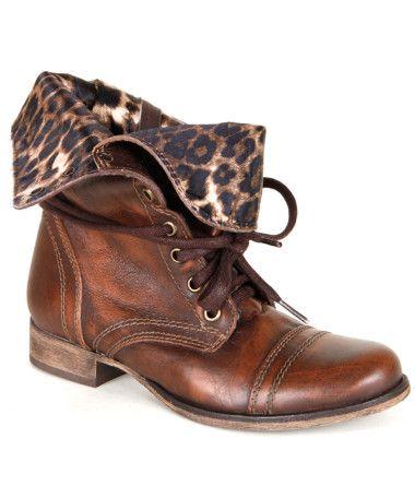 Betsy Johnson Leopard Combat Boot