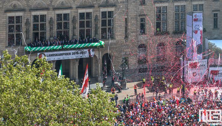 Huldiging van kampioen Feyenoord op de Coolsingel 2017
