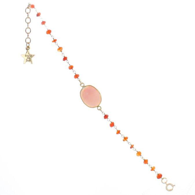 Bracelet  TANIT1 Cornaline  Opale Rose / Bracelet raffiné, il saura illuminer votre poignet. À porter la journée comme le soir