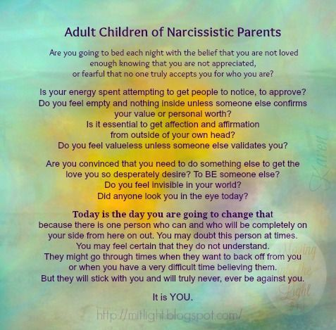 Abusive adult child parent