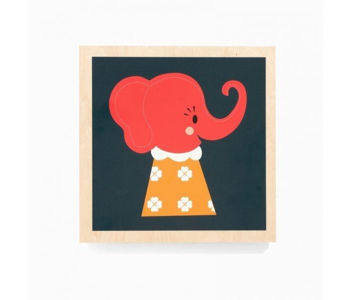 Houten schilderij Elle Elephant  Decoration  Pinterest